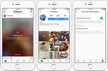 características de instagram para iphone